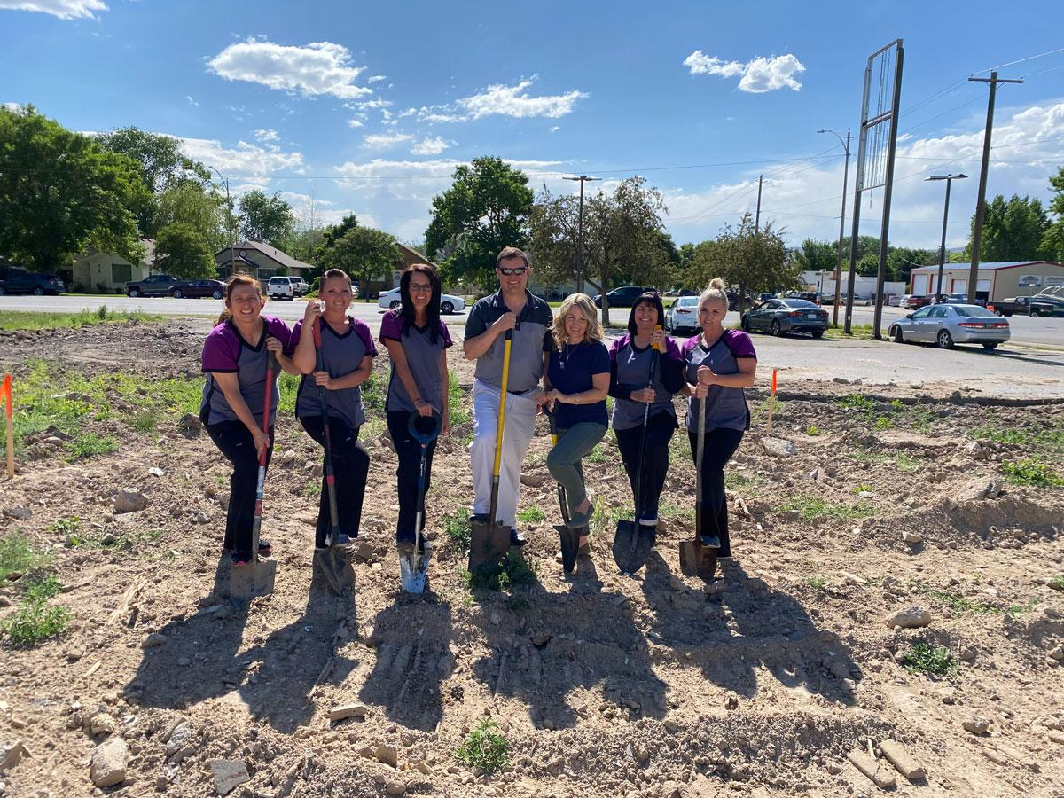 It's official… construction is underway! We couldn't be more excited. The whole team pitched in as we broke ground this week.